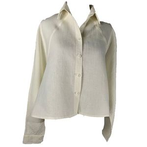 cropped linen shirt jacket by 7115 by szeki